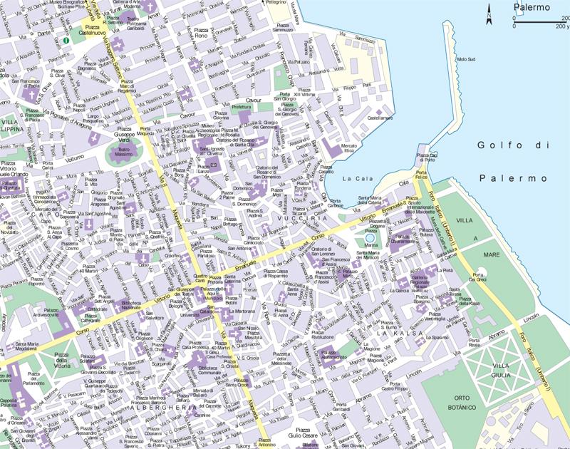 Street Food Palermo Map